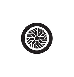 car wheel icon design template isolated vector image