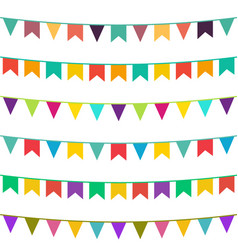 celebrate flags set vector image