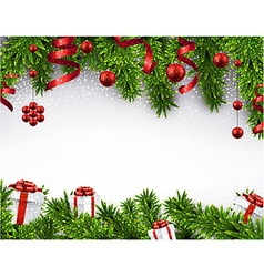 Christmas banner with spruce branches vector