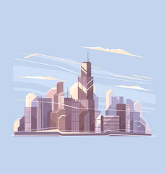 city landscape with skyscrapers vector image