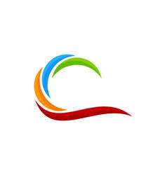 Color wave logo icon design vector