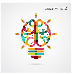 Creative infographics brain function vector image