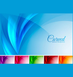 curved abstract background vector image