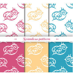 cute small bird seamless repeat pattern vector image