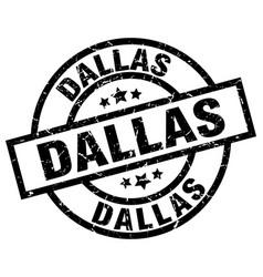 Dallas black round grunge stamp vector
