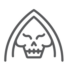 death line icon halloween and horror reaper sign vector image