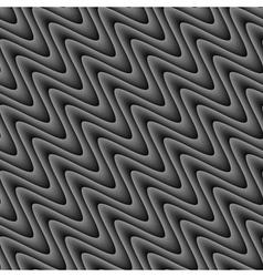 Design seamless monochrome zigzag wave pattern vector image