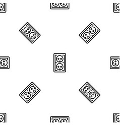 electrical outlet pattern seamless vector image