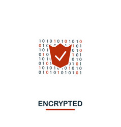 encrypted icon creative two colors design from vector image