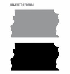 federal district silhouette maps vector image