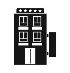 Five star hotel icon simple style vector image
