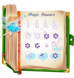 Flowers magic of fairies vector