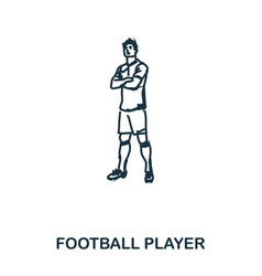 football player standing icon mobile apps vector image