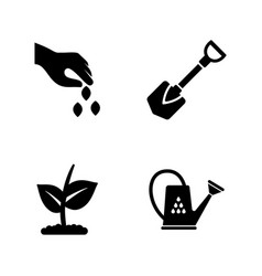 garden simple related icons vector image