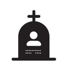 grave silhouette icon vector image