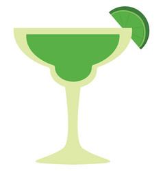 green mohito on white background vector image