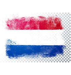 Grunge and distressed flag netherlands vector