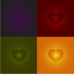 Heart on a red Heart on a red green orange pur vector
