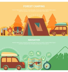 Hiking Equipment And Navigation Accessories For vector image