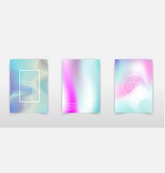 holographic foil backgrounds set multicolor vector image
