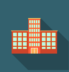 Hospital icon flate single building icon from the vector