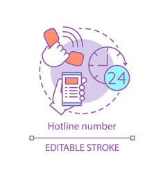 Hotline number concept icon vector