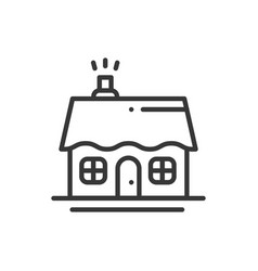 House and home thin line icon outline decorated vector