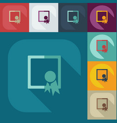 Icons in a flat style business vector