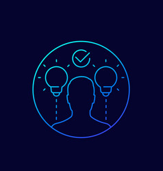 Ideas and insights line icon vector