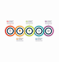 infographic timeline template with 5 steps vector image