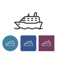 line icon ship in different variants vector image