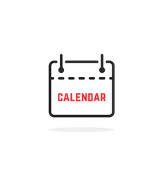 linear tear-off calendar icon vector image