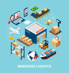 logistics isometric concept vector image