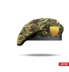 Military Camo Beret Special Forces vector