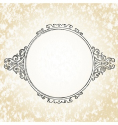 Ornate oval frame vector