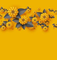 Paper cut decorative flowers vector