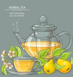 Pear tea vector