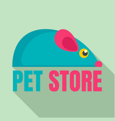 pet store toys logo flat style vector image