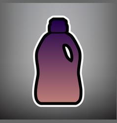 plastic bottle for cleaning violet vector image