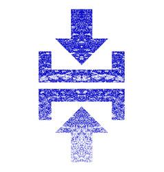 Press vertical direction grunge textured icon vector