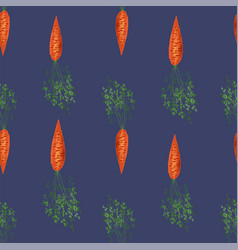 Red fresh carrot seamless pattern vector