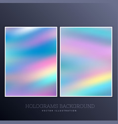 Ser holographic background with vibrant colors vector