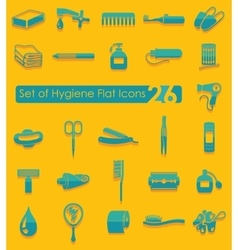 Set of hygiene icons vector