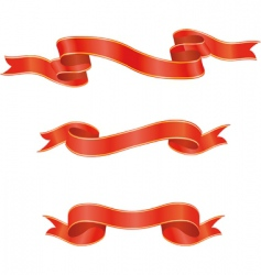 Set of red ribbons illustration vector