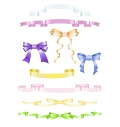 Set of ribbons and bows vector image