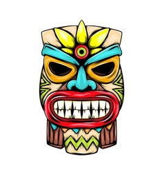 Statue from small tiki island vector
