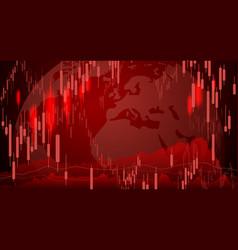 stock market background design economic crisis vector image