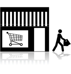 Store front vector image