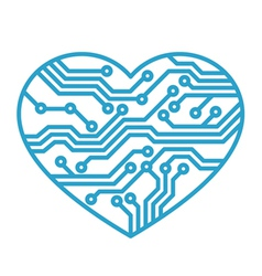 technology love vector image