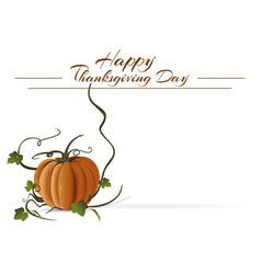 thanksgiving day card vector image